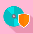 secured cd disk icon flat style vector image