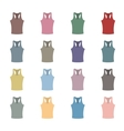 Set of colored tank top vector image vector image