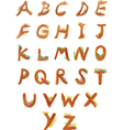 Set of Hand Painted Watercolor Alphabet vector image vector image