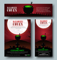 Set of posters flyers and banners for Halloween vector image vector image