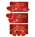 set of valentine greeting card vector image vector image