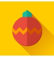 Simple Christmas ball icon in flat style vector image vector image