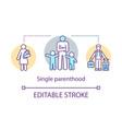 single parenthood concept icon sole custody idea vector image vector image