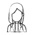 sketch woman cartoon profile girl avatar vector image vector image
