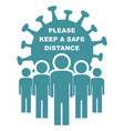 social distance people banner vector image vector image