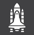 space shuttle glyph icon transport and space vector image