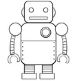 Square robot vector image