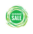 summer sale discount creative banner vector image