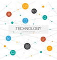 technology trendy web template with simple icons vector image vector image