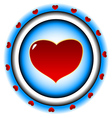 The purpose with heart vector image