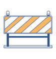 traffic barrier flat icon in color sections vector image vector image