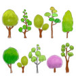 trees colored doodle vector image