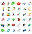 worker icons set isometric style vector image vector image