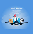 world traveling concept design template vector image