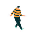 young overweight man dancing male dancer vector image vector image