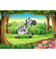 A zebra at the forest vector image vector image