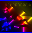 abstract background futuristic chrome effect vector image vector image