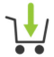 add to basket halftone icon vector image