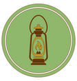 antique old kerosene lamp isolated retro design vector image