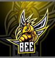 bee esport mascot logo design