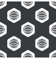 Black hexagon global network pattern vector image