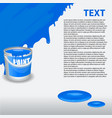 blue paint dripping on the wall editable template vector image vector image