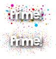 Bonus paper banners vector image vector image