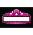 Brightly theater glowing pink retro cinema neon vector image vector image