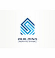 building house construction creative symbol vector image