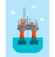 Cartoon Oil Platform vector image vector image