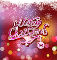 christmas background with greeting inscription vector image vector image