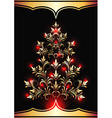 Christmas fur tree vector image