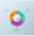 circular chart divided into 3 sectors and round vector image vector image