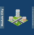 city isometric of urban vector image vector image