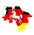 coat arms over map lower saxony german vector image vector image
