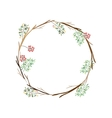 colorful decorative crown branch floral vector image vector image