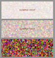 Colorful tiled triangle mosaic banner design set vector image vector image