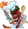 Cook the pepper vector image vector image