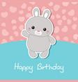 cute rabbit of cute rabbit vector image vector image