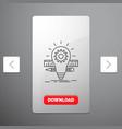 development idea bulb pencil scale line icon in vector image vector image