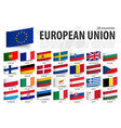 european union flag and member sticky note vector image