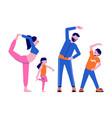 family sport vector image