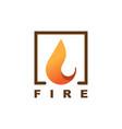 fire logo design vector image vector image