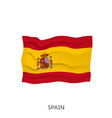 flag spain vector image