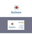 flat processor logo and visiting card template vector image