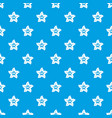 flower star pattern seamless blue vector image