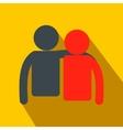 Friendship flat icon vector image