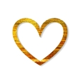 Gold heart frame on a white background vector image vector image