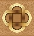 golden frame on the beige arab background vector image