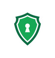 green shield guard lock logo icon vector image vector image